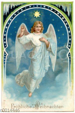 Weihnachtskarte mit Engel