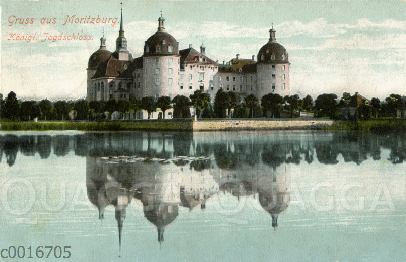 Schloss Moritzburg bei Dresden in Sachsen