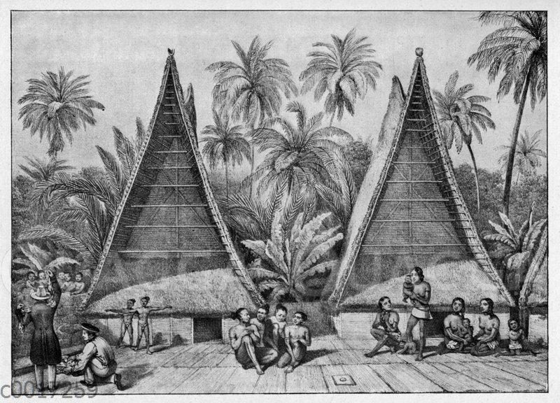 Hütten der Einwohner von Ualan