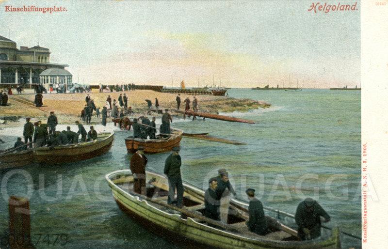 Helgoland: Einschiffungsplatz