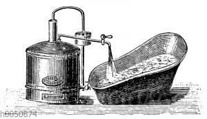 Hydraulischer Badeofen