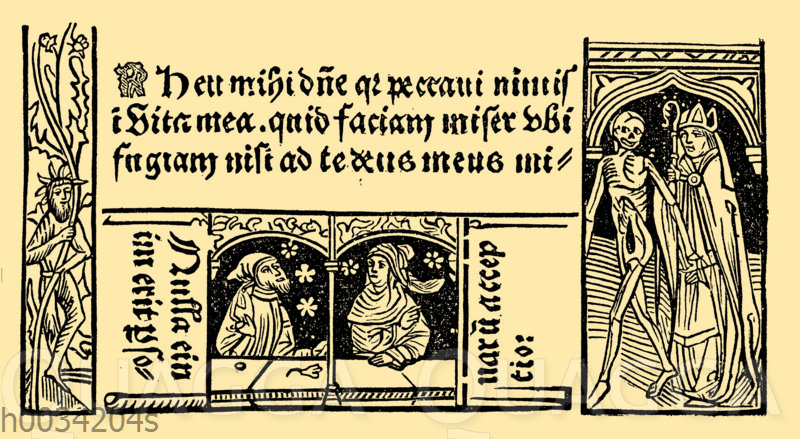 Totentanz: Aus einem lateinischen Beichtbuch von 1487