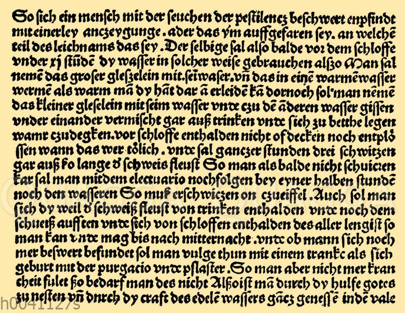 Ärtzliche Hilfe bei Pest gegen Ende des 15. Jahrhunderts