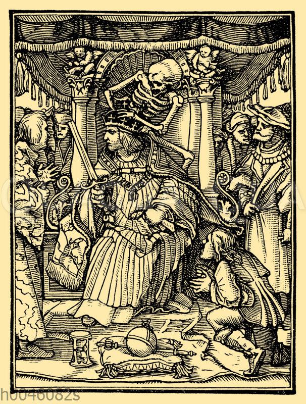 Kaiser. Aus dem Totentanz von Hans Holbein dem Jüngeren