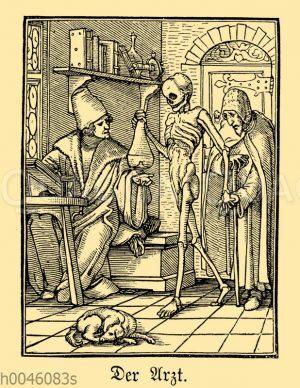 Arzt. Aus dem Totentanz von Hans Holbein dem Jüngeren