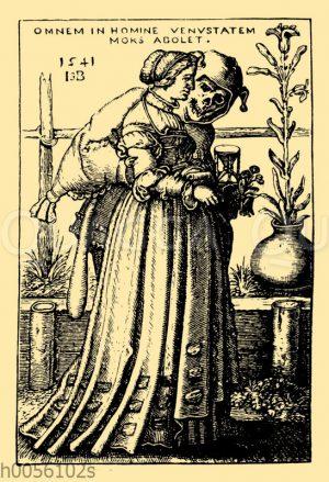 Der Tod und die Frau von Hans Sebald Beham
