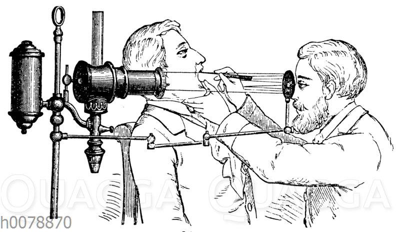 Ärztliche Untersuchung von Hals und Rachen
