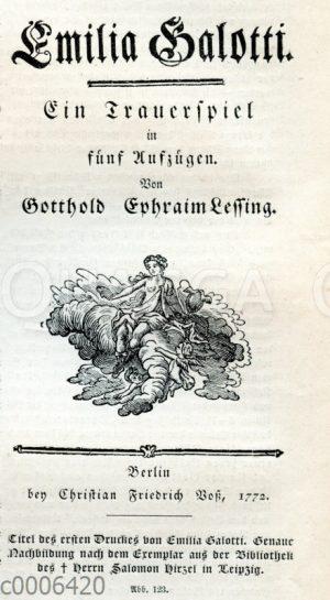 Emilia Galotti: Titelblatt