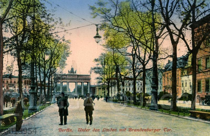 Berlin Unter den Linden mit Brandenburger Tor