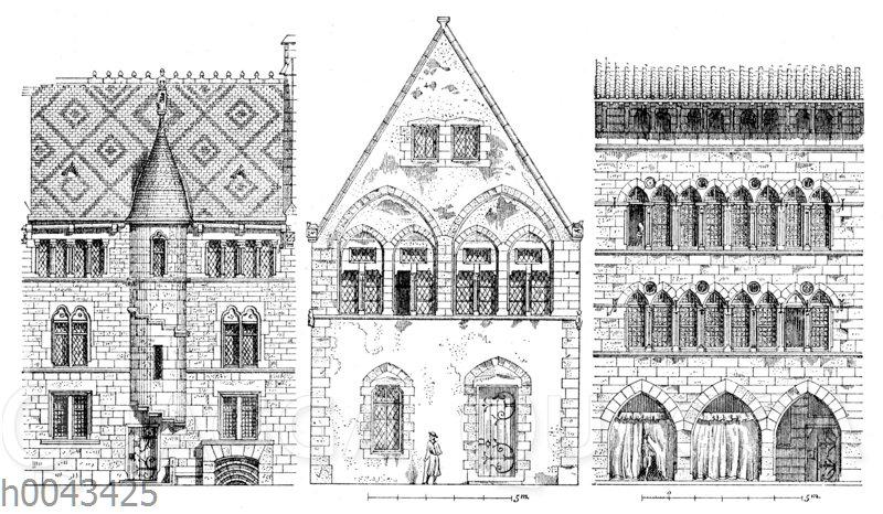 Französische Wohnhäuser des 13. Jahrhunderts