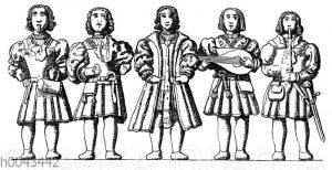 Ministrels auf einer Säule in der Marienkirche zu Beverley
