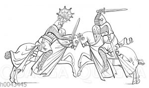 Kampf zwischen Rittern (13. Jahrhundert).
