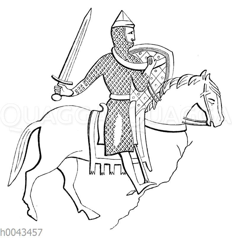 Englischer Ritte um 1170