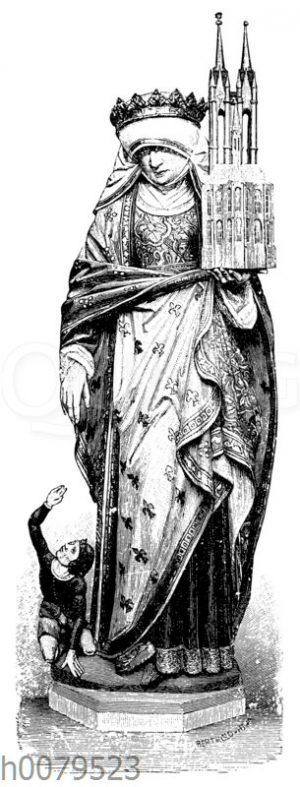 Statue der heiligen Elisabeth in der Elisabethkirche in Marburg