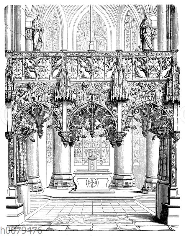 Lettner von Ste. Madeleine zu Troyes