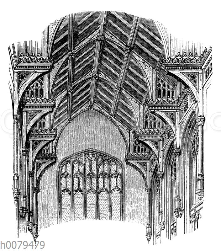 Holzdecke aus St. Stephan in Norwich