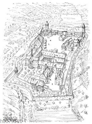 Abtei Maulbronn aus der Vogelperspektive