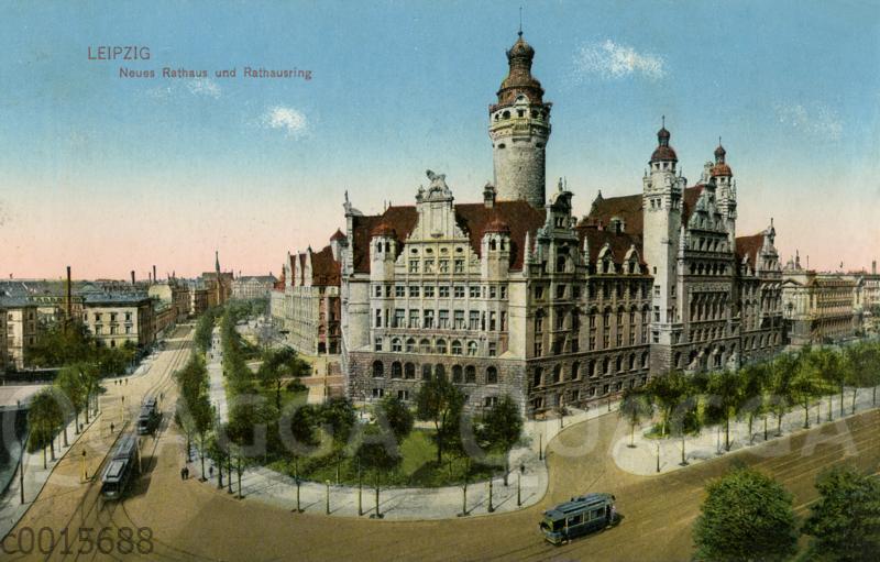 Leipzig: Neues Rathaus und Rathausring