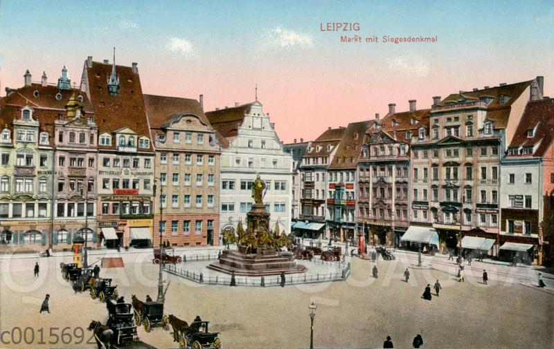 Leipzig: Markt mit Siegerdenkmal