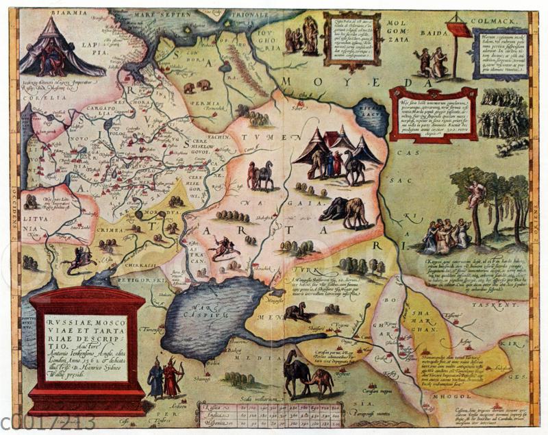 Karte des russischen Reichs um die Mitte des 16. Jahrhunderts