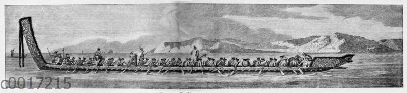 Ruderboot der Eingeborenen von Neuseeland