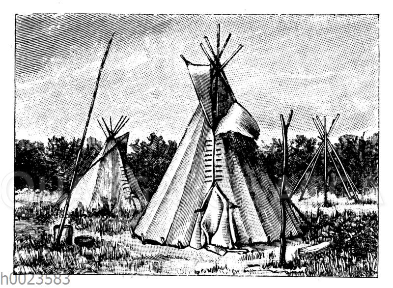 Zelt der Omaha-Indianer