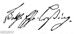 Gotthold Ephraim Lessing: Autograph