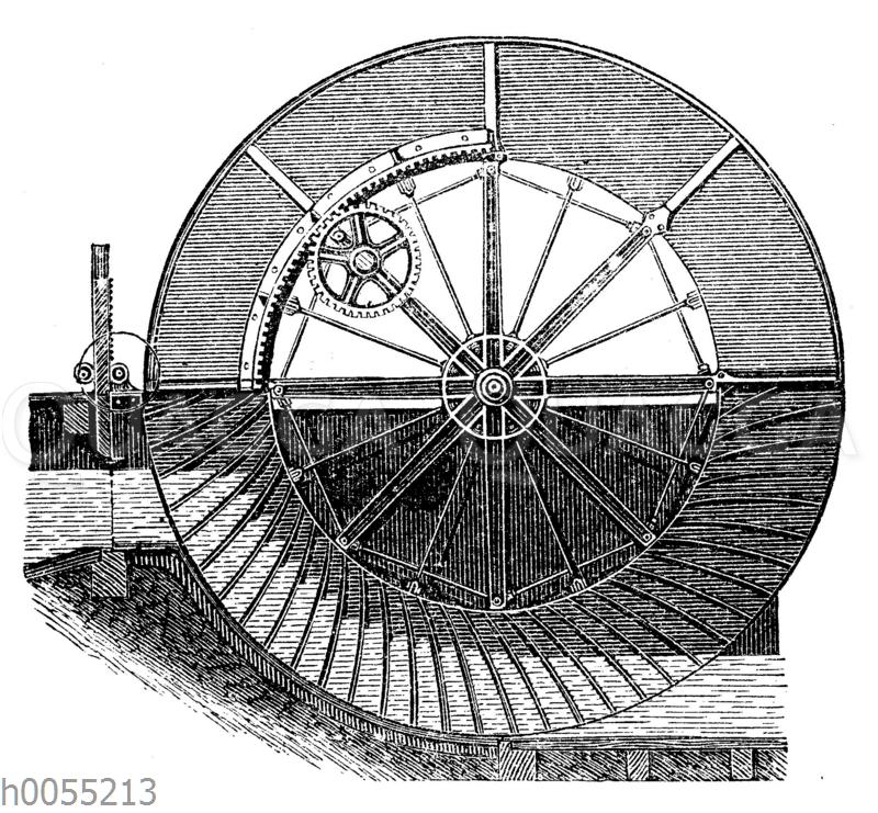 Wassermühle: Sagebienrad