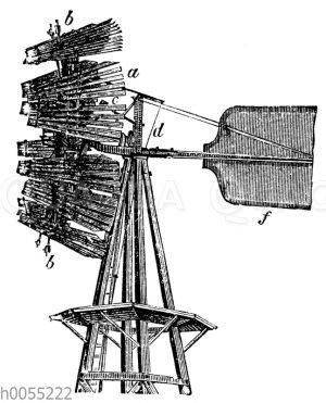Windrad von Halladay mit eingezogenen Segeln