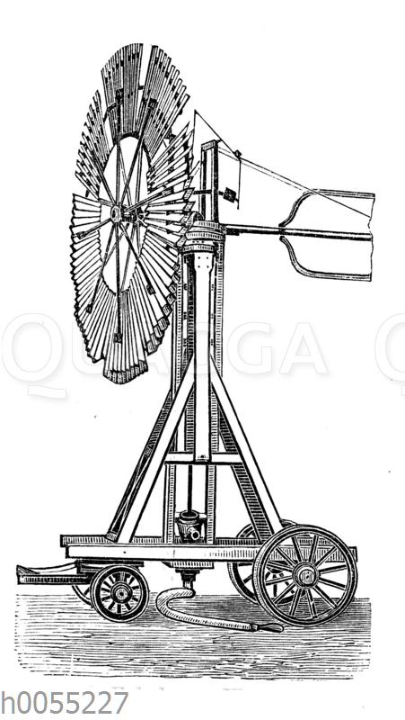 Fahrbares Windrad