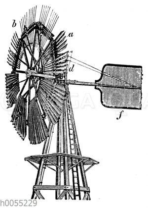 Windrad von Halladay im Betrieb