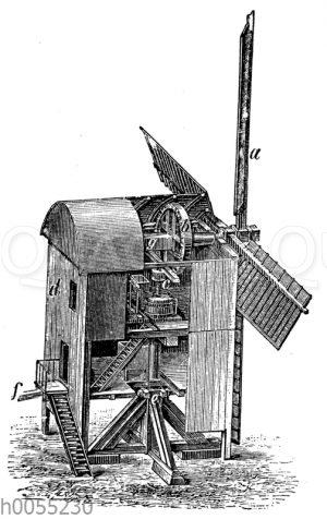 Windrad: Bockwindmühle