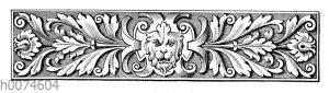 Zierleiste mit Löwenkopf