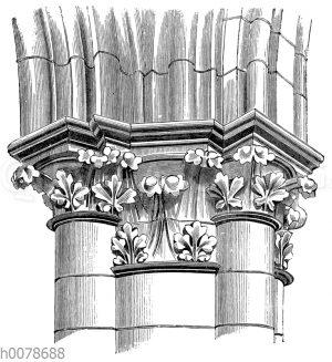 Frühgotisches Pilasterkapitell