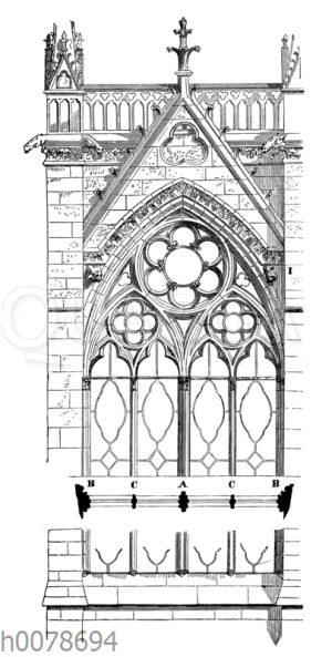 Fenster mit Wimperte aus Ste. Chapelle in Paris