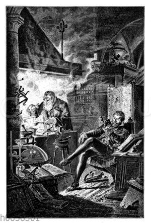 Kurfürst Johann Georg bei dem Alchemisten Leonhard Thurneyßer