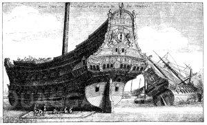 Handelsschiff der holländisch-indischen Kompanie im 17. Jahrhundert