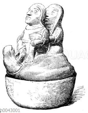 Alt-peruanisches Grabgefäß