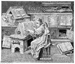 Arbeitszimmer eines Gelehrten im 15. Jahrhundert
