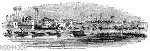 Szene aus der Nilüberschwemmung