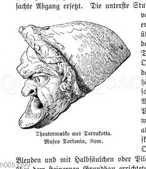 Theatermaske aus Terrakotta