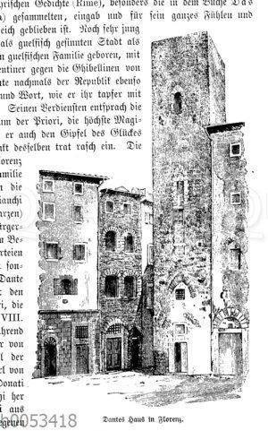 Dantes Haus in Florenz