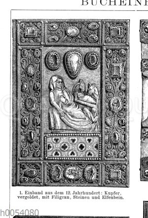 Bucheinband aus dem 12. Jahrhundert
