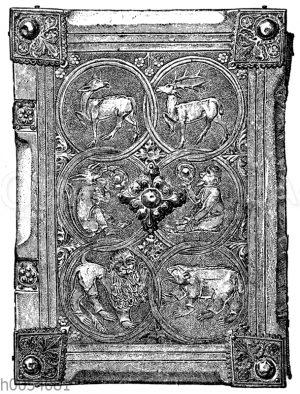Bucheinband aus dem 14. Jahrhundert