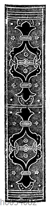 Bucheinbandrücken aus dem 16. Jahrhundert