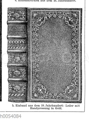 Bucheinband aus dem 18. Jahrhundert