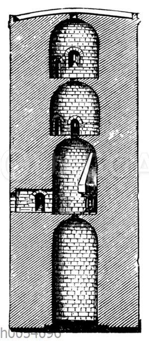 Turm in Besigheim. Schnitt