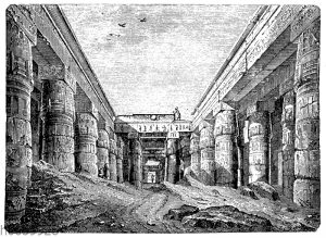 Tempel des Chunsu (Chons) zu Karnak. (Vorhof)