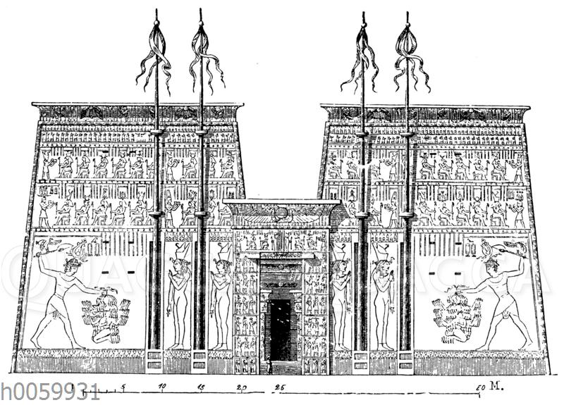 Tempel zu Edfu. Vorderansicht
