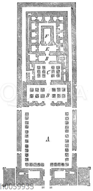 Tempel zu Edfu. Grundriss